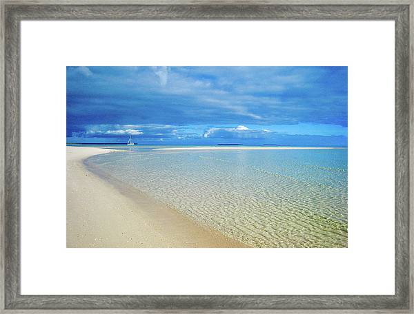 Adagio Alone In Ouvea, South Pacific Framed Print