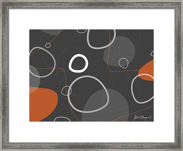 Adakame - Atomic Abstract Framed Print by Bill ONeil