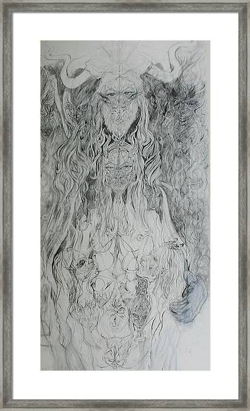 Adam And Lilith Framed Print