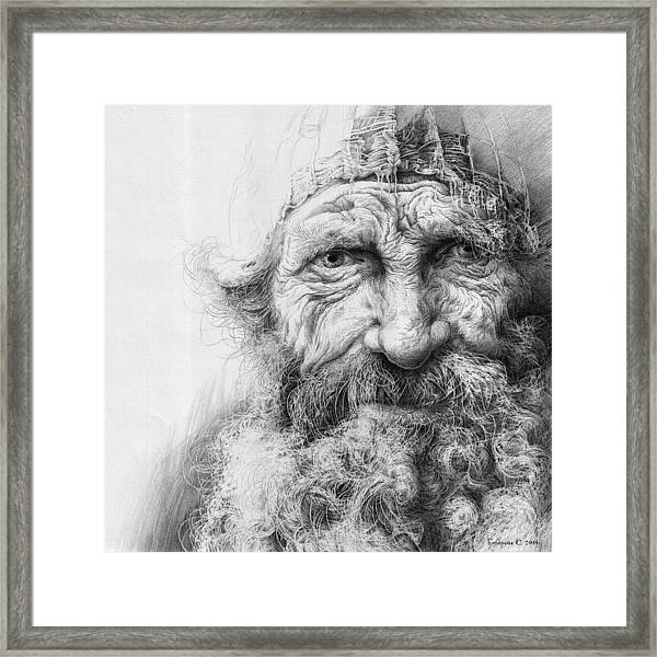 Adam. Series Forefathers Framed Print