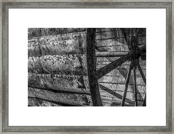 Adam's Mill Water Wheel Framed Print