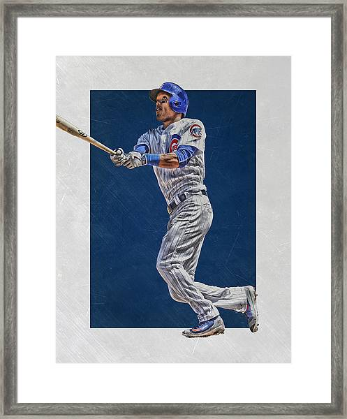 Addison Russell Chicago Cubs Art Framed Print