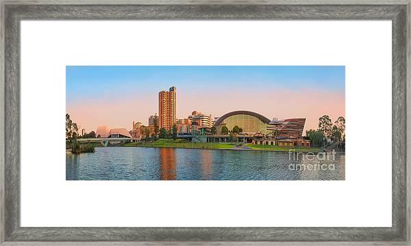 Adelaide Riverbank Panorama Framed Print
