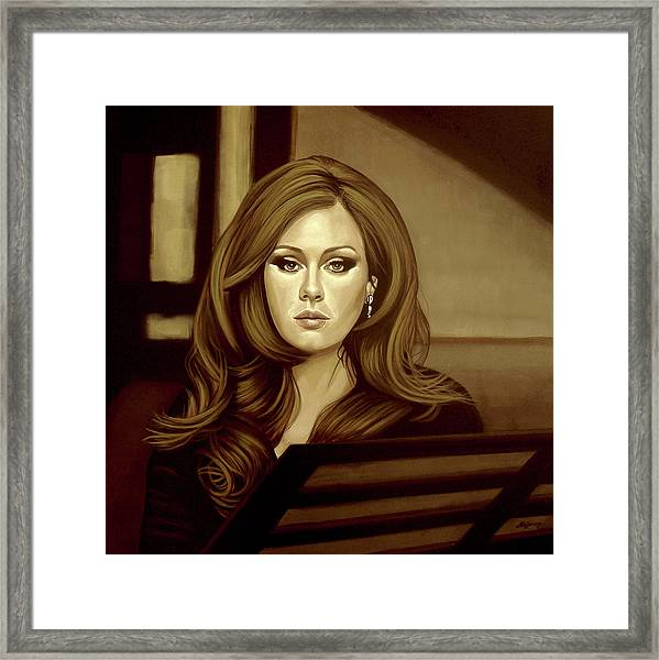 Adele Gold Framed Print