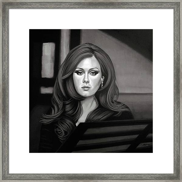 Adele Mixed Media Framed Print