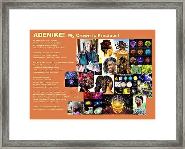 Adenike My Crown Is Precious Framed Print