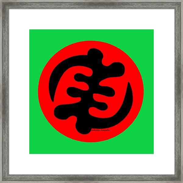 Adinkra Symbol Gye Nyame Except God Only God Framed Print