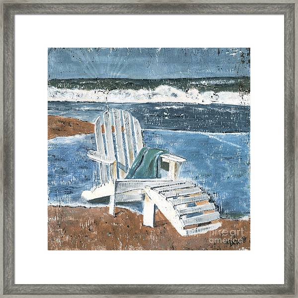 Adirondack Chair Framed Print