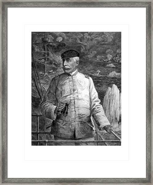 Admiral Dewey At Sea Framed Print