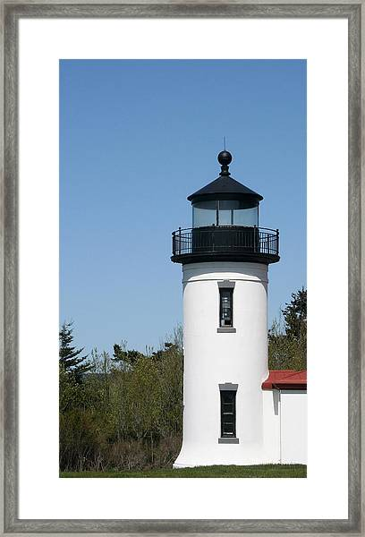 Admiralty Head Lighthouse Li2001 Framed Print by Mary Gaines