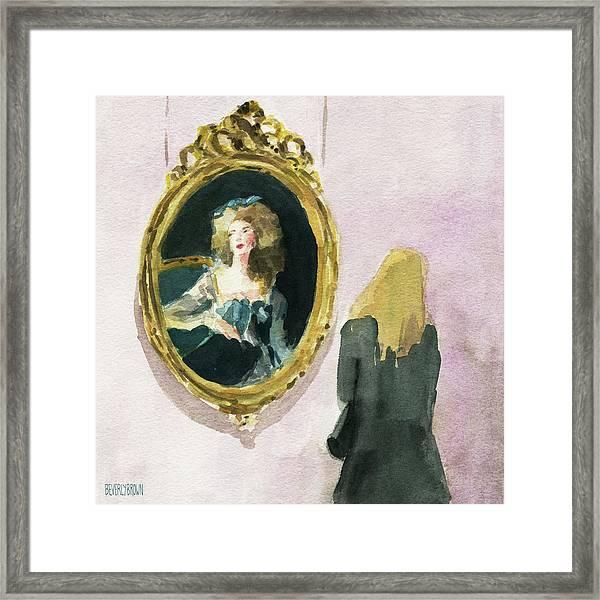 Admiring Vigee Le Brun Framed Print