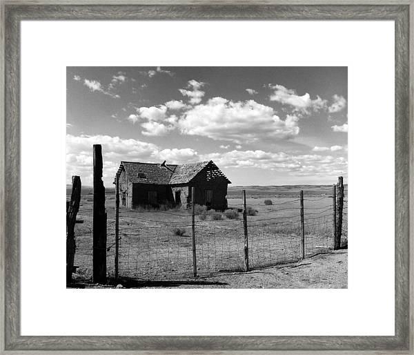 Adobe Homestead Framed Print by Allan McConnell