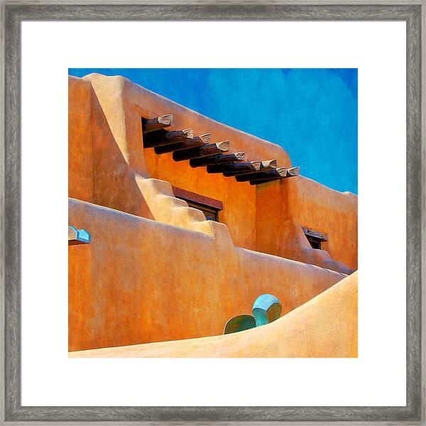 Adobe Levels, Santa Fe, New Mexico Framed Print