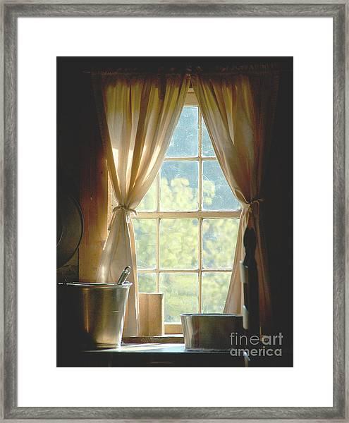 Adobe Window Light Framed Print