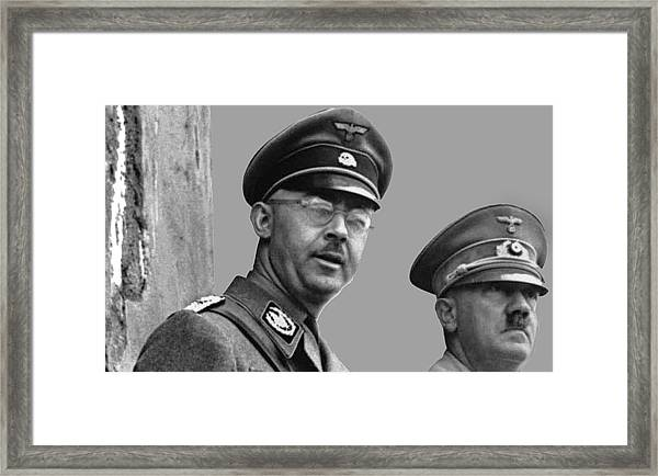Adolf Hitler And Gestapo Head Heinrich Himmler Watching Parade Of Nazi Stormtroopers 1940-2015 Framed Print