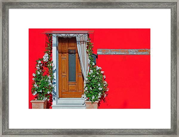 A-door-ned Framed Print