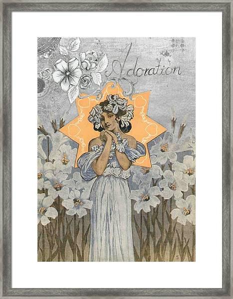 Adoration Art Deco Framed Print
