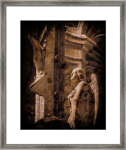 Framed Print featuring the photograph Paris, France - Adoring Angel by Mark Forte