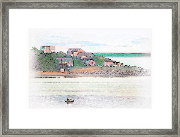 Adrift On The Bay At Sunset Framed Print