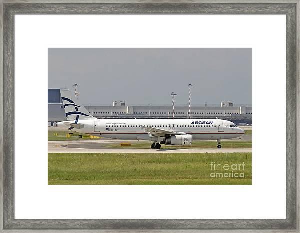 Aegean Airbus A320 Sx-dvt  Framed Print