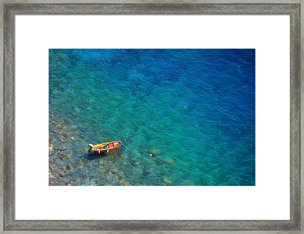 Aegean Sea Framed Print by Songquan Deng