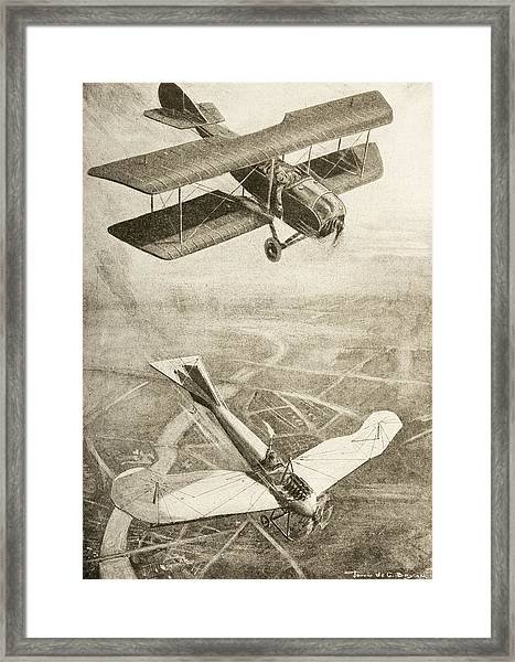 Aerial Duel On The Western Front Framed Print