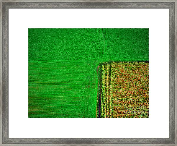 Aerial Farm Mchenry Il  Framed Print