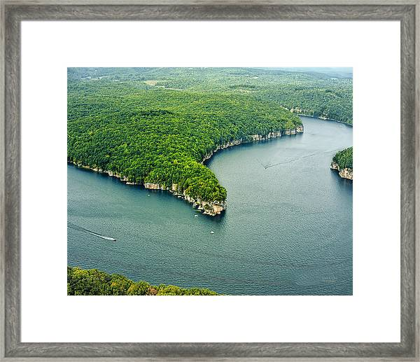 Aerial Image Of  Long Point Cliff Framed Print