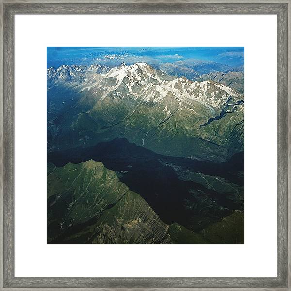 Aerial Photograph Of The Swiss Alps Framed Print