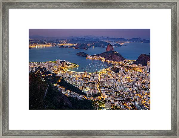 Aerial Rio Framed Print
