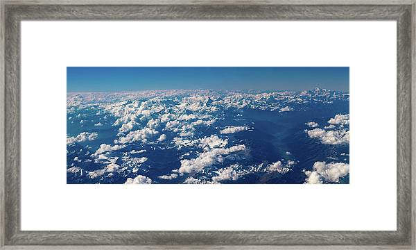 Framed Print featuring the photograph Aerial View by Nikos Stavrakas