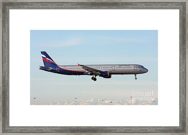 Aeroflot - Russian Airlines Airbus A321-211 Framed Print