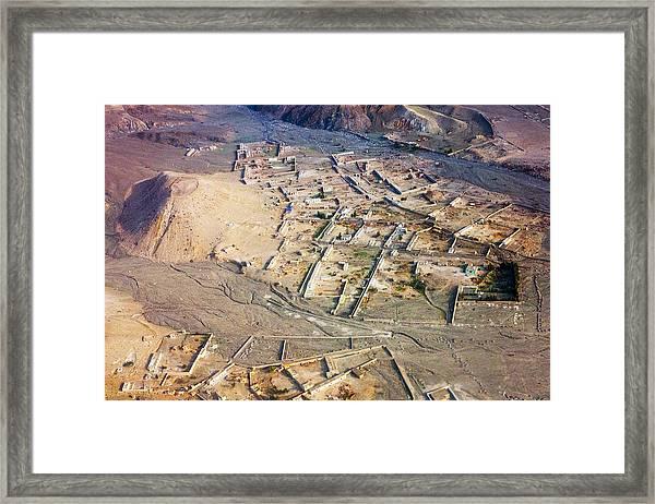 Afghan River Village Framed Print