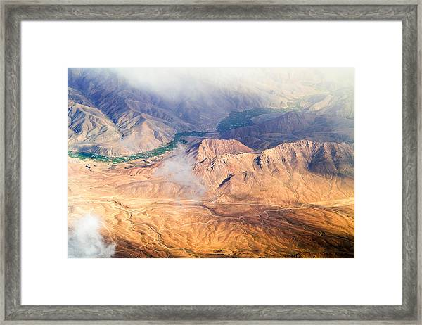 Afghan Valley At Sunrise Framed Print