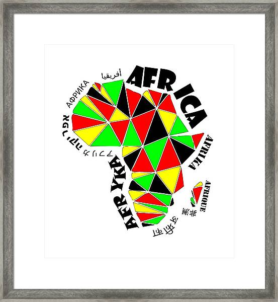 Africa Continent Framed Print