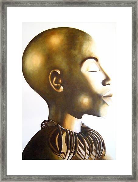 African Elegance Sepia - Original Artwork Framed Print