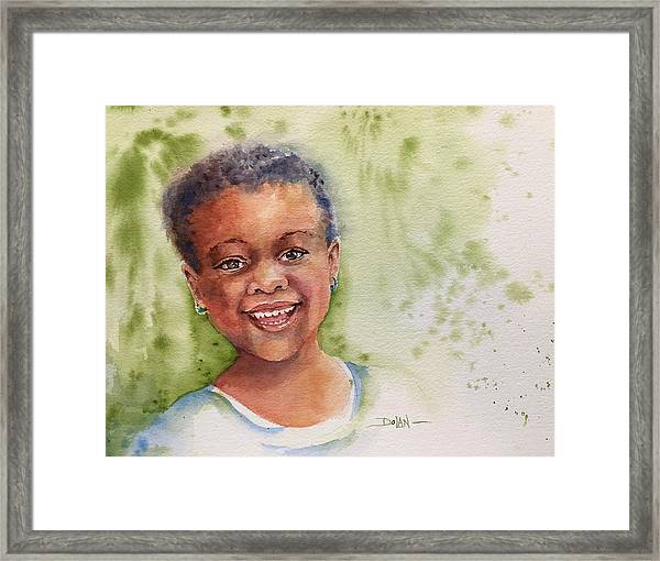 African Girl Framed Print
