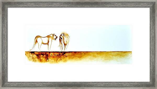 African Marriage - Original Artwork Framed Print