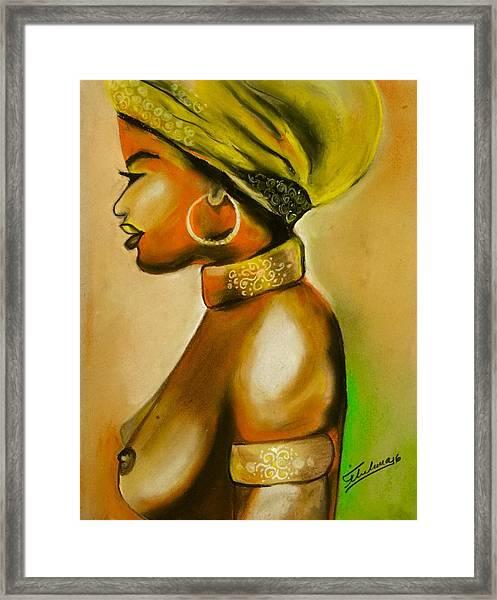 African Woman Framed Print