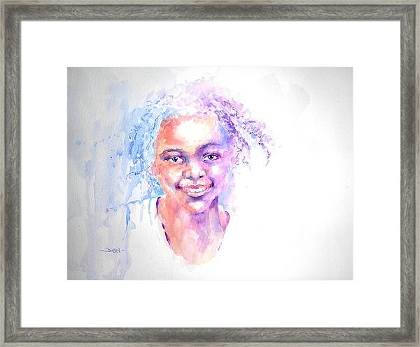 Africani Girl Framed Print