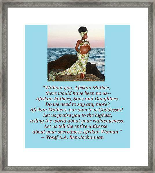 Afrikan Mother Framed Print