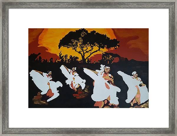 Afro Carib Dance Framed Print