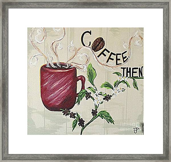 After Coffee Framed Print
