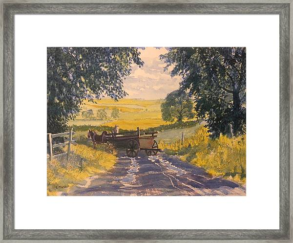 After Rain On The Wolds Way Framed Print