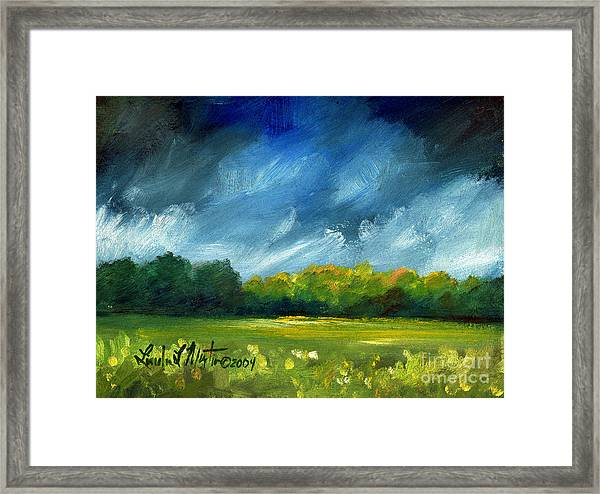 After Spring Rain Framed Print