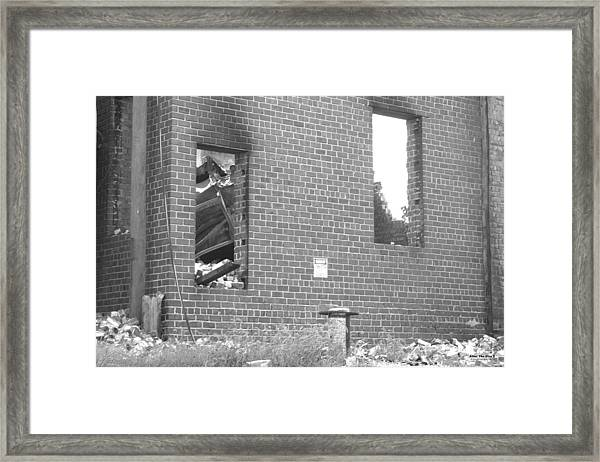 Framed Print featuring the photograph After The Fire 5 by Brian Gryphon