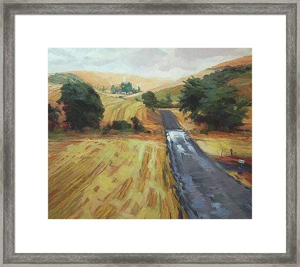 After The Harvest Rain Framed Print