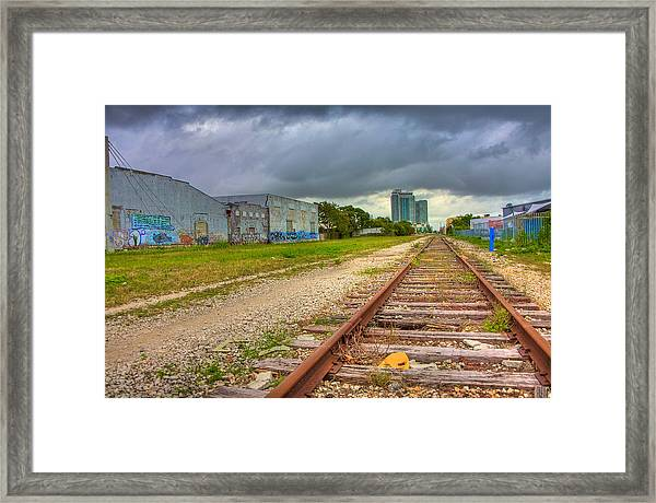 After The Last Train Out Framed Print by William Wetmore