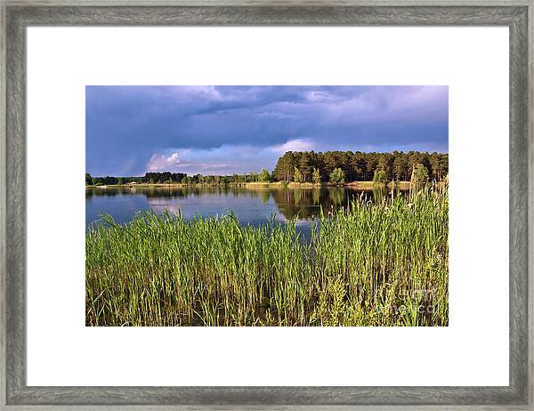 After The Rain Poetry Framed Print