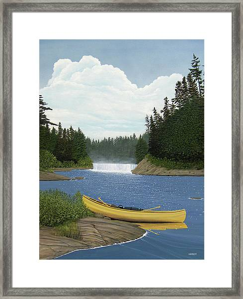 After The Rapids Framed Print